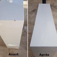 Table lacquet blanc